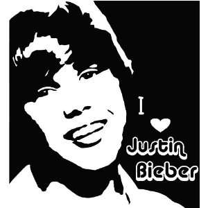 Justin Bieber cute silhouette music wall art wall sayings