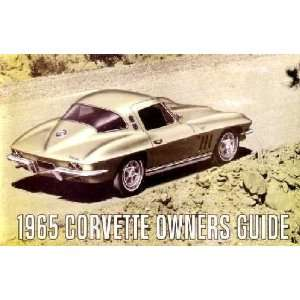 1965 CHEVROLET CORVETTE Owners Manual User Guide