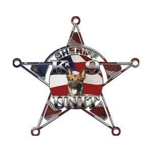5 Point Sheriff Star K9 Unit American Flag   2 h