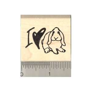 I Love Lops Rubber Stamp   Wood Mounted Arts, Crafts