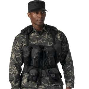 BLACK Military Army Style Tactical Utility ASSAULT VEST