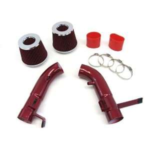 09 10 11 NISSAN 370Z NISMO 3.7L V6 Dual Short Ram Air Intake Kit Red