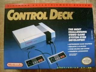 NEW Nintendo NES SYSTEM W/5 GAMES ALL factory sealed 0045496610104