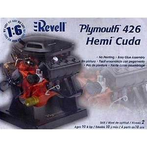 Plymouth 426 Hemi Cuda Engine Model Kit by Revell Toys