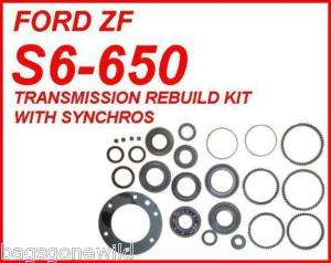 FORD ZF S6 650 6 SPEED MANUAL TRANSMISSION REBUILD KIT WITH SYNCHROS