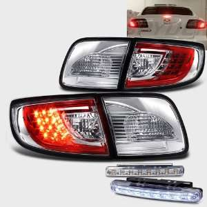 Eautolight Mazda 3 Sedan 4 Dr LED Altezza Red Chrome Tail Light Lamps