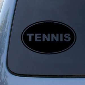 TENNIS EURO OVAL   Racquet Sports   Vinyl Car Decal Sticker #1751