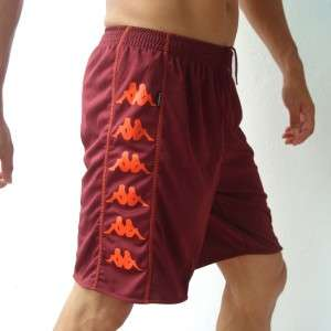 KAPPA Mens Football Soccer Jersey Shorts Maroon M L XL