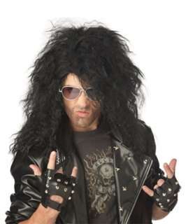 Heavy Metal Rocker Black Wig for Halloween Costume