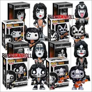 2011 Funko KISS Pop Vinyl Figures & Wacky Wobbler Bobblehead Set