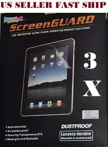 3X Clear LCD Screen Protector Film Cover For Apple iPad