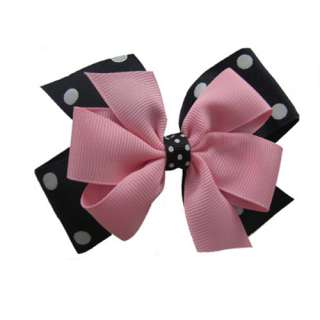 Two Tone Colors Large Double Layered Bows/Wholesale