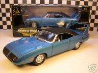ERTL 118 SCALE BLUE 1970 PLYMOUTH SUPERBIRD 440 SIX PACK