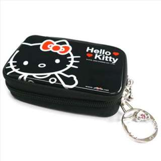 Hello Kitty Ipod Phone Camera Pouch Case w/ Wipe Black