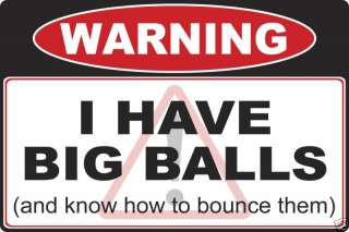Big Balls warning decal sticker 4x4 Truck