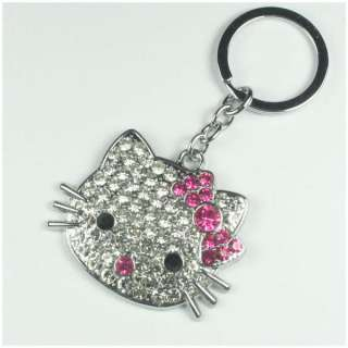 Crystal HELLOKITTY Key Chain Keyring Bag Purse Charm Girls Women Gift