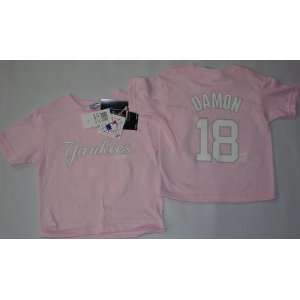 Johnny Damon Player Name & Number Girls Toddler Jersey T Shirt 3T