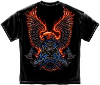 Volunteer FireFighter T Shirt Fire Rescue Courage Honor EMT EMS