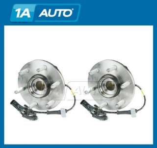 4WD 4x4 w/ ABS Front Wheel Hub & Bearing Pair Set Assembly