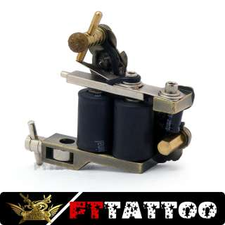 Top Quality Black Tattoo Machine Gun for 10 Wrap Coils