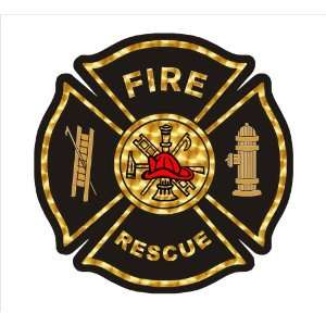 Firefighter Decal   Fire Rescue Maltese with Goldleaf Look