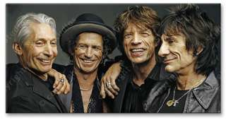 Rolling Stones Original Rare new CANVAS ART PAINTING