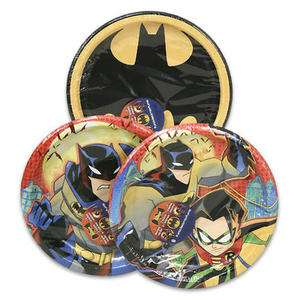 Batman Super Hero Birthday Party SET for 8 ~ Lunch Plates Npakins