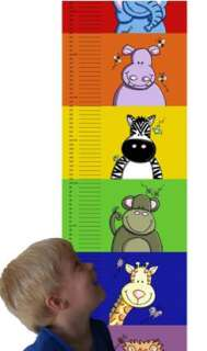 Child Growth Height Chart Australian Animals Set Bright