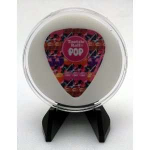 Tootsie Roll Pop Guitar Pick With MADE IN USA Display Case