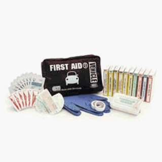 First Aid Kit Vehicle in Black Nylon Bag Health