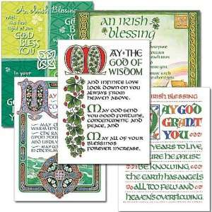 Celtic Irish Blessings Card Collection Assorted Irish