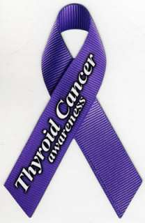 Thyroid Cancer Awareness Ribbon Magnet. These realistic ribbon magnets