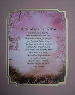 GRANDMA POEM PERSONALIZED GIFTS FOR BIRTHDAY, CHRISTMAS, MOTHERS DAY