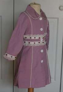 TRISH SCULLY~TODDLER GIRL~PURPLE FLORAL~2T~PRINCESS COAT~NEW~