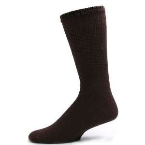 Sole Pleasers Mens Brown Diabetic Crew Socks   3 pairs [Health and