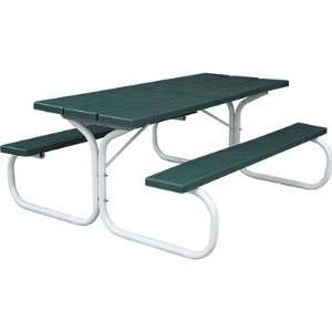 Leisure Time Injection Molded Picnic Table   72in., Hunter Green