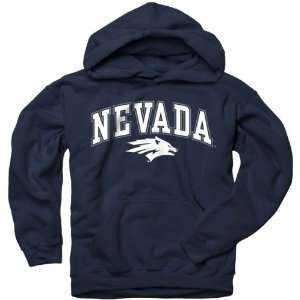 Nevada Wolf Pack Youth Navy Perennial II Hooded Sweatshirt
