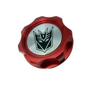 Transformers Decepticon Oil Filler Cap in Red Billet Aluminum for
