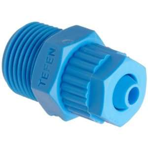 Tube Fitting, Adapter, Blue, 8 mm Tube OD x 3/4 BSPT Male (Pack of 5