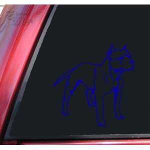 Pit Bull / Pitbull Full Body Vinyl Decal Sticker   Blue Automotive