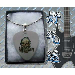 Iron Maiden Eddie Metal Guitar Pick Necklace Boxed