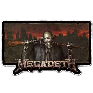 Heavy Metal Band Car Bumper Sticker Decal 6x3.5
