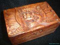 Balinese Barong Secret Puzzle Trinket Jewelry Box~Hand carved wood