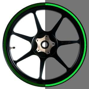 Green Motorcycle, Scooter, Car & Truck Wheel Rim Stripes Automotive