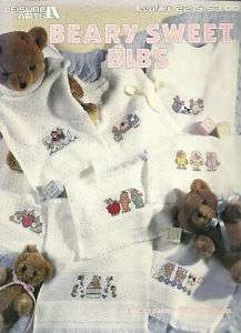 Baby Cross Stitch Patterns BEARY SWEET BIBS Leisure Arts