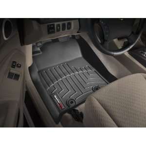 2012 Toyota Tacoma Black WeatherTech Floor Liners (Full Set) [Double