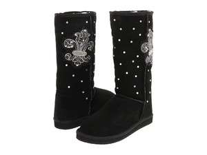 Yellow Box BISOU Womens Black Bling Boots