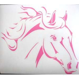 Sm Pink Western Stock Quarter Horse Car Window Decal Automotive