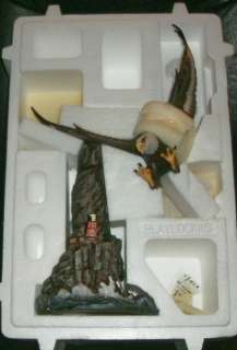 Mint Majestic Hunter Sculpture Ted Blaylock Alaska Chilkat Bald Eagle