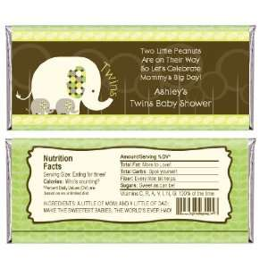 Elephants   Personalized Candy Bar Wrapper Baby Shower Favors Baby